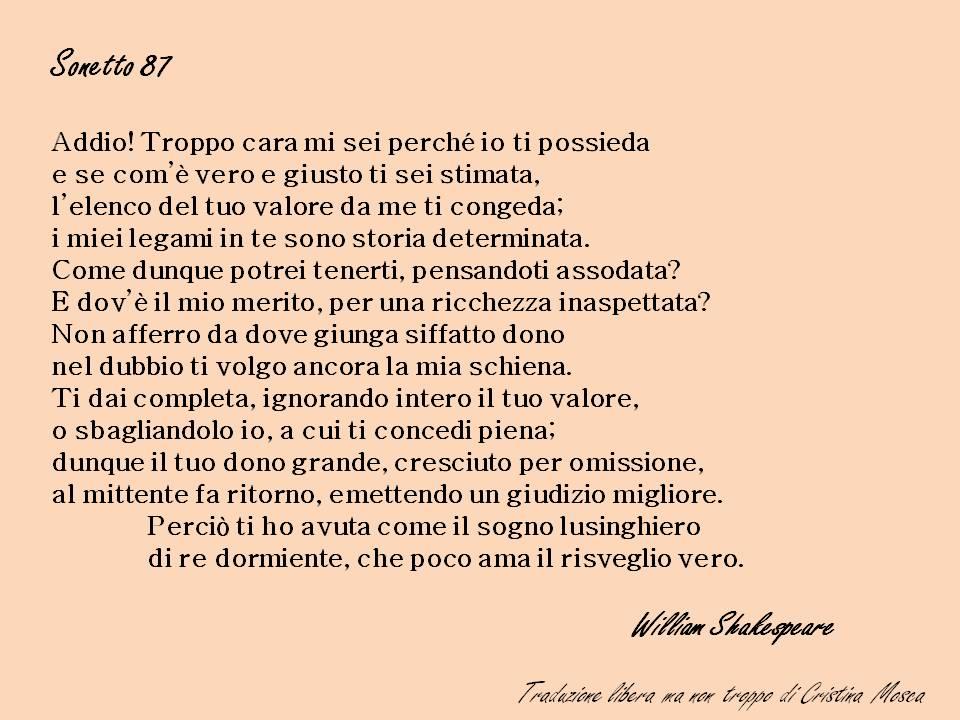 sonetto 87